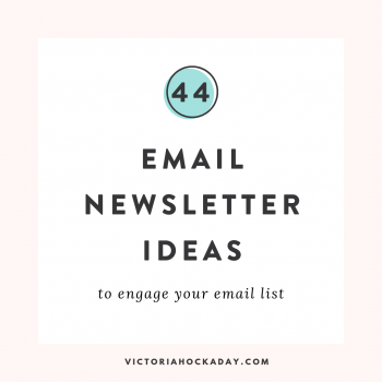 email newsletter ideas