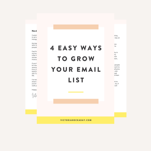 grow email list mailing list email list building