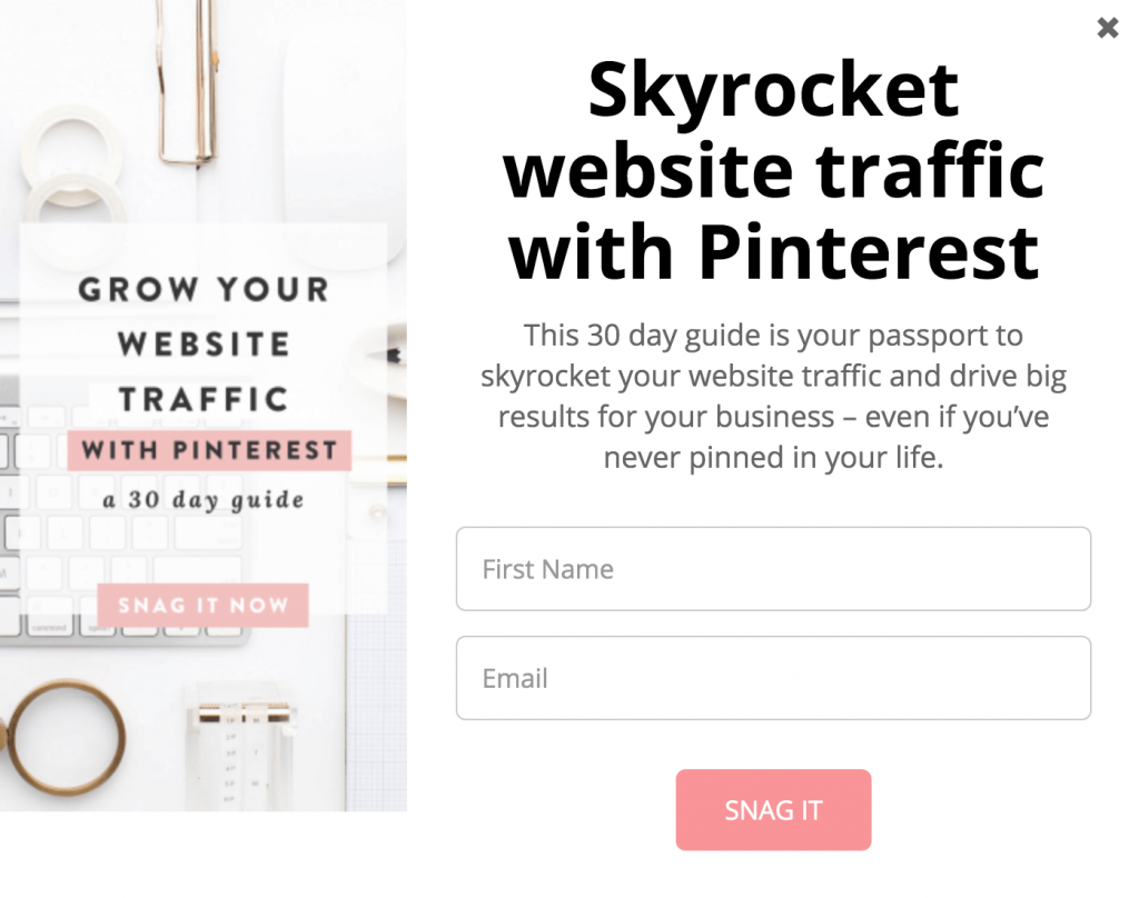 how to grow your email list with pinterest victoria hockaday