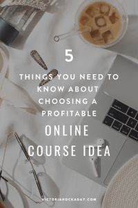 online course idea